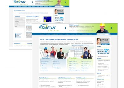 Web-Design for Taifun Software